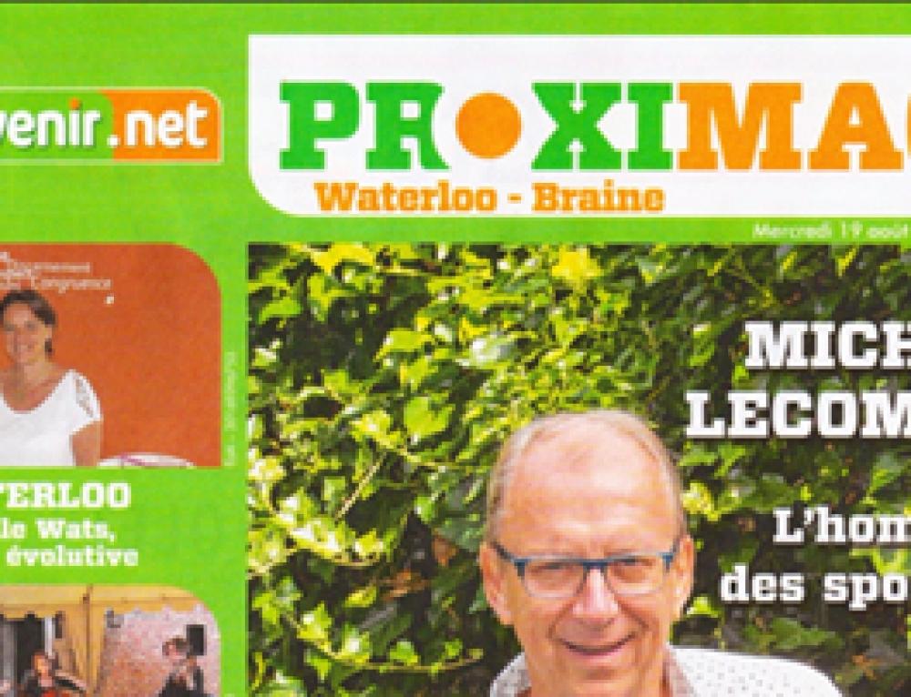 Interview d'Isabelle Wats dans le magazine PROXIMAG de Waterloo-Braine 19/08/2015