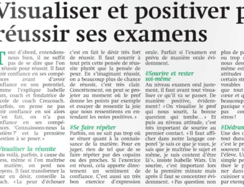 Visualiser et positiver pour réussir ses examens (article de Metro)
